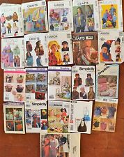 Simplicity McCall's Butterick Vogue Hats Gloves Baby  Bags Apron Tote  Jackets