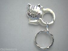 MAGNETIC or TAC PIN Name ID Badge OR EyeGlass Holder. Reading or Sunglasses Cat