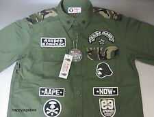 A BATHING APE Men's AAPE S/S ARMY SHIRT 2 Colors Best Buy From Japan New