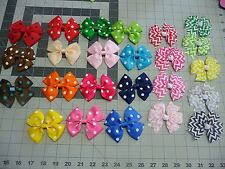 3.5 inch Chevron n Polka Dot Exchangeable BOWS for Carols Crate Cover Dog Items