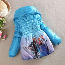 Baby Girls Frozen Queen Eilsa Anna Snowsuit Outwears Kids Slim Lined Coat Jacket