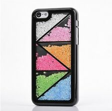 Colorized Floating Crystals Hard Case Cover Skin for iPhone 5C