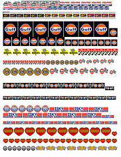 1:18 1:24 DECALS FOR DIECAST, MODEL CARS & DIORAMA GULF