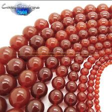 Wholesale 4mm 6mm 8mm 10mm 12mm 14mm 16mm Round Red Agate Loose Beads For Making