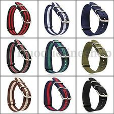18mm/20mm Military Nylon Wrist Watch Band Strap 260mm Fit All Watches -US SELLER