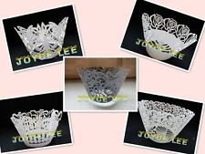 Pearl Lace Filigree Cupcake Wrappers-Wedding,Baby Shower,Birthday,Cake Cup Wraps