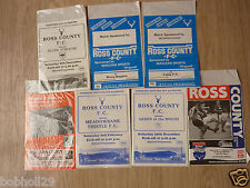 Ross County Home Programmes  1969 onwards. Select the one(s) you require
