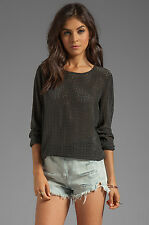 NWT Equipment Laser Cut Liam silk Tee with Contrast Retail $348