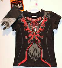 VAMPIRE T-SHIRT & BANDANA Girls Goth Halloween Twilight Easy Costume XS S M NEW