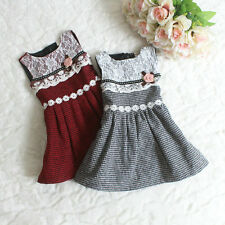 Baby Girls Kids Princess Vest Flower Lace Ball Gown Party Dress Petticoat 1-5T