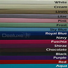 Percale Poly Cotton Fitted Sheet SINGLE KING SINGLE DOUBLE QUEEN KING 13 Colours
