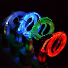 Visible LED Light USB Data Sync Charger Cable Cord for Smartphone Phones Mobiles