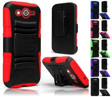 Samsung Galaxy Avant SM-G386T Armor Hybrid Rugged Side Stand Holster Cover Case