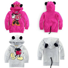 Baby Girls Boys Kids Cartoon Mickey Minnie Tops Hoodies Coat Outfits Set Clothes