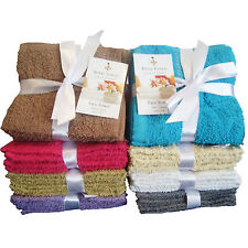 3 Pack Face Towels Cloth Flannels Wash Cloths 100% Cotton- Gift Packed 30 x 30cm