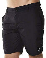 New Rvca Men's Balanced Nylon Short Cotton Shorts Bermudas Black