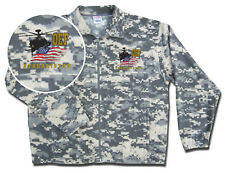 military fleece jacket acu digital camo oef apache chopper embroidery ykk zipper