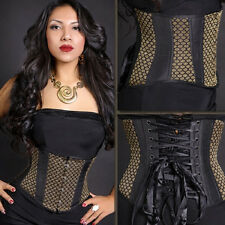 Mini SHORT Corset 26 Steel Bones Lace Up Pin Up Waist Training Cincher Shaper