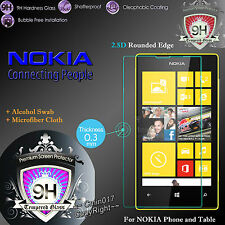 Real Tempered Glass Film Screen Protector for Nokia Lumia Cover Various Model