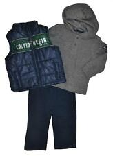Calvin Klein Infant Boys Navy Blue Vest 3pc Pant Set Size 12M 18M 24M $69.50