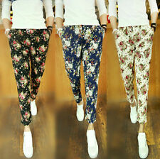 New Fashion Big Size Floral Painted Lace Harem Pants Slim Men's Nine Pants H576