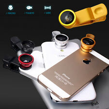 3 in1 FishEye+Wide Angle+Macro Camera Clip Lens For iPhone 4 4S 5 5S 5c Samsung