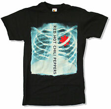 """RED HOT CHILI PEPPERS """"X-RAY"""" BLACK SLIM FIT T-SHIRT NEW OFFICIAL ADULT RHCP"""