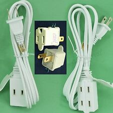 1 Extension Electric Cable 3 Outlet Cord + 2 Grounding Adapter tap 2 Prong To 3