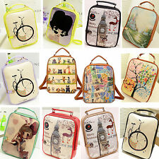 Newly Women Girls PU Leather Bookbag Backpack Handbag Shoulder School Bag