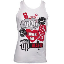 OFFICIAL Pukka Up Ibiza Mens Tank Top Vest Womens White Best Bits Mas-If RRP £40