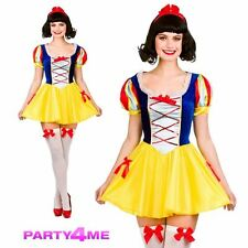 LADIES SEXY SNOW WHITE PRINCESS FAIRYTALE STORY BOOK WEEK FANCY DRESS COSTUME