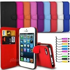 Flip Wallet Leather Case Cover Skin For Apple iPhone 5 5S Free Screen Protector
