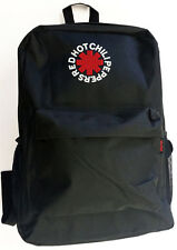 RHCP RED HOT CHILI PEPPERS Backpack Bag Hipster Streetwear School College BLACK