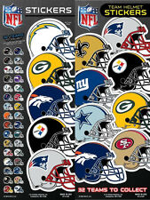 NFL Team Helmet Football Stickers choose from all available 32 teams!!