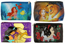 Disney Princess Cosmetic Make-Up Tote Bag Purse Ariel Belle Jasmine Snow White