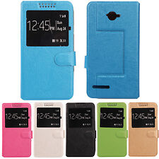 Stand Leather Case Cover Protection Skin For Alcatel One Touch Scribe Easy 8000D
