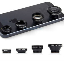 4in1 2x Telephoto+Fish Eye+Macro+Wide Angel Magnetic Lens for Phones Tablets New