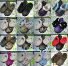 Unisex Croc Mammoth Lined Slippers Warm Winter Shoes Size UK 4 5 6 7 8 9