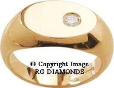 NEW 18K / 14K GOLD ENGAGEMENT EGL ROUND CUT REAL NATURAL WHITE DIAMOND MENS RING