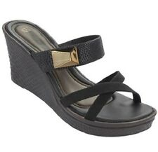 Grendha Women's Glam Brown / Black / Bronze Platform Wedge Sandal