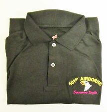 """101ST AIRBORNE DIVISION""""SCREAMING EAGLES"""" EMBROIDERED LIGHTWEIGHT POLO SHIRT"""