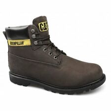 Caterpillar COLORADO Mens Nubuck Leather Welted Lace-Up Boots Chocolate Brown