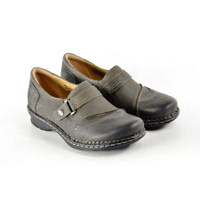 Earth Womens Loafer Shoes  600246WWLEA05 Beetlebug Wide Grey Leather