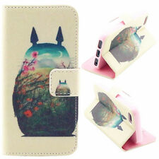 Totoro's back Wallet card slot PU Leather Stand Case Cover Skin for phones