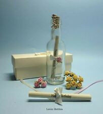 21ST BIRTHDAY MESSAGE IN A BOTTLE GIFT + DETACHABLE CLIP ON CHARM