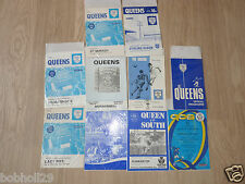 Queen of the South Home Programmes  1966 onwards. Select the one(s) you require