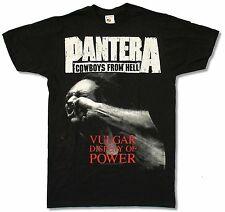 """PANTERA """"COWBOYS FROM HELL (NO BACK)"""" BLACK SLIM FIT T-SHIRT NEW OFFICIAL ADULT"""