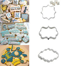 Plaque Frame Cookies Biscuit Mold Fondant Cake Chocolate Decorating Cutter Mould