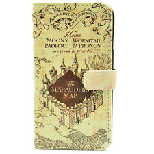 Harry Potter The Marauder's Map PU Leather Wallet Flip Case For iphone 6 /6 Plus