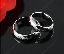 Size 5-10 Cool LOTR Silver Stainless Steel Band Wedding Ring Width 3mm
